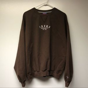 Vintage Brown University Champion Crewneck